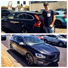 Volvo V8 Supercar driver Scott McLaughlin picked up his new V60 R-Design Wagon last week, with 325-hp and plenty of room for Scott's bikes, his grin says it all!