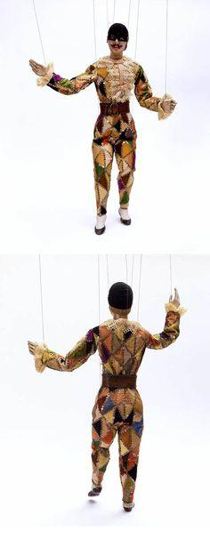 Harlequin Marionette, Richard Barnard, Late 19th Century, Museum no. S.720-1990