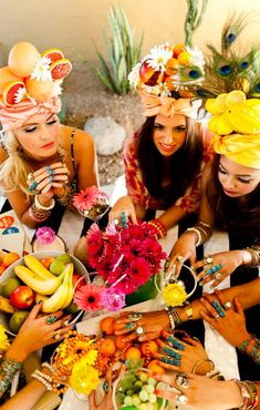 head into the tropics..and look at all their rings! - This will be me and the girls as soon as I turn 18!