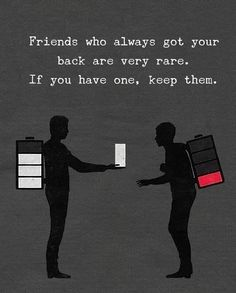 Friend who always got your back are very rare. If you have one, keep them. Quotes Mind, Quotes Thoughts, Life Quotes, Positive Quotes, Motivational Quotes, The Success Club, Challenge, Important Life Lessons, Philosophy Quotes