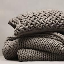 woollen blanket chunky knit - Google Search