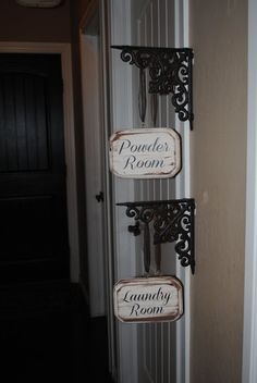 Powder Room Laundry Room Signs With Wrought By GracefulOfferings, $41.99