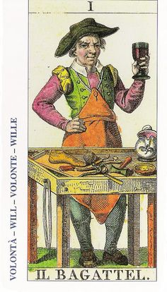 01-Cartas de Tarot - El Mago-Tarot, Astrología, Horóscopos, Metirta