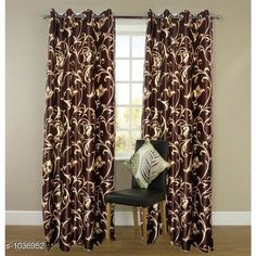 Curtains & Sheers Polyester Printed Door Curtains   *Material* Polyester  *Dimension* ( L X W ) - Curtains - 7 Ft X 4 FT  *Type* Stitched  *Description* It Has 2 Piece Of Door Curtain  *Work* Printed  *Sizes Available* Free Size *   Catalog Rating: ★4 (884)  Catalog Name: Royal Polyester Printed Door Curtains Vol 2 CatalogID_125608 C54-SC1116 Code: 943-1036952-