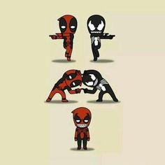 Risultati immagini per venompool Chibi Marvel, Marvel Art, Marvel Avengers, Marvel Comics, Deadpool Pikachu, Deadpool Funny, Deadpool Kawaii, Character Drawing, Comic Character