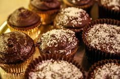 Vegan, Gluten-Free, and Guilt-Free Cupcakes made with TigerNut Flour!  No added sugar!