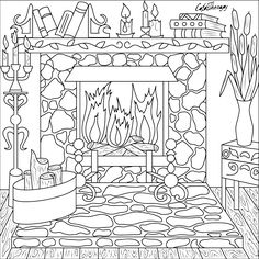 The sneak peek for the next Gift of The Day tomorrow. Do you like this one? #old #fireplace ••••••••••• Don't forget to check it out tomorrow and show us your creative ideas, color with Color Therapy: http://www.apple.co/1Mgt7E5 ••••••••••• #happycoloring #giftoftheday #gotd #colortherapyapp #coloring #adultcoloringbook #adultcolouringbook #colorfy #colorfyapp #recolor #recolorapp #coloring #coloringmasterpiece #coloringbook #coloringforadults