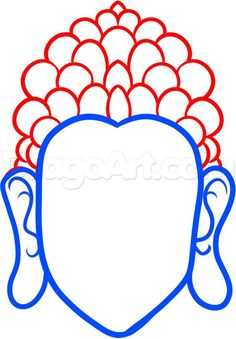 how to draw buddha easy step 3