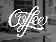 Creative Typography, Coffee, Lettering, and Hand image ideas & inspiration on Designspiration Typography Letters, Typography Logo, Graphic Design Typography, Lettering Design, Logo Design, Coffee Typography, Gothic Lettering, Creative Typography, Creative Fonts