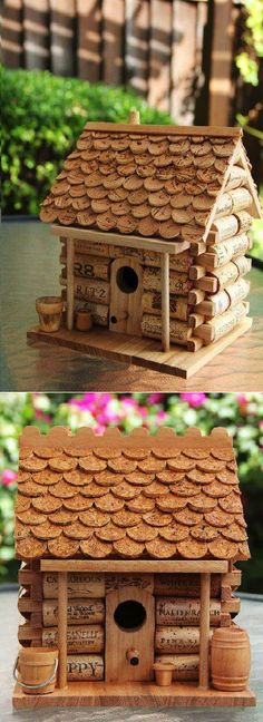 DIY Cute Wine Cork House