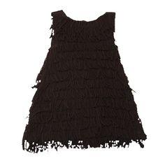 Vestido con flecos y sin mangas de Douuod. Moda infantil online primavera verano. Más moda niñas online en www.yosolito.es/tienda