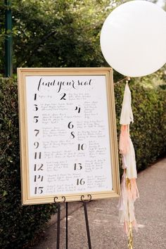 Custom Designed Wedding Seating Chart