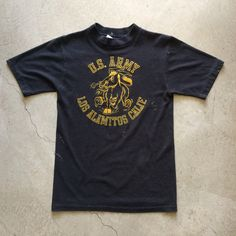 "U.S. Army Los Alamitos, CA T-Shirt $42+$8(shipping) domestic. Sold as is. DM for Inquiries. Size S/M. 26.5"" collar to hem x 17"" pit to pit. Contact the shop at 415-796-2398 to purchase by phone or PayPal afterlifeboutique@gmail and reference item in post."