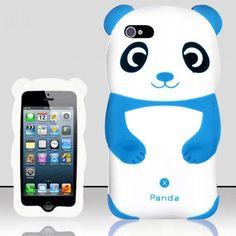 Panda 3D Cartoon Figure Silicone Case for iPhone 5/5S/SE