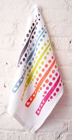 5 color trees kitchen towel