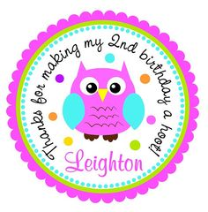 Owl Personalized Stickers. Little Owl Stickers by thepaperkingdom, $6.00