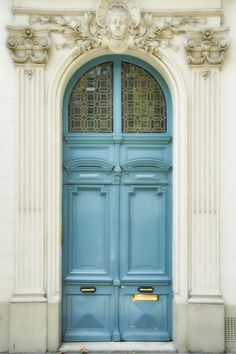 Blue door, Paris, France