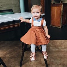 Overall Skirt - Fin & Vince. Baby girl fashion, organic baby clothing.