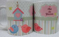 Caneca Personalizada Chá de bebê Baby Clip Art, Clipart Baby, Shower Prizes, Enchanted Garden, Personalized Mugs