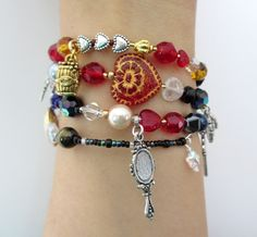 The Tales of Hoffmann Opera Bracelet. Beads and charms tell the story of Offenbach's opera. Click to see more! http://www.operabracelets.com/the-tales-of-hoffmann-opera-bracelet/ $88.88 #opera #talesofhoffmann