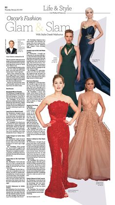 Oscar's Fashion Glam & Slam With Stylist Derek Warburton|Epoch Times #newspaper #editorialdesign