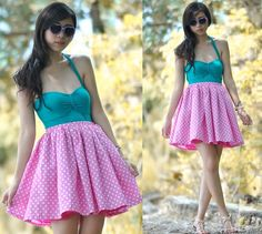Sunny 50's (by Gillian  Uang) http://lookbook.nu/look/3297625-Sunny-5-s