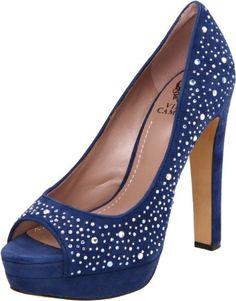 Vince Camuto Women's Garnets Peep-Toe Pump
