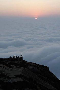 Sunset @ Skandagiri Hills, also known as Kalavara Durga, located approximately 70 km from Bangalore, Karnataka,