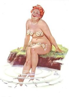 Meet Hilda, the plus-sized pin up girl from the 1950s. Description from pinterest.com. I searched for this on bing.com/images