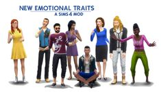 New Emotional Traits by kutto at Mod The Sims - The Sims 4 Catalog Sims 4 Cheats, Sims New, Sims 4 Traits, Sims 4 Dresses, Feeling Fine, The Sims 4 Download, Sims Mods, The Sims4, Creative Skills