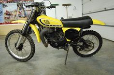 1976 Yamaha YZ175C- The very last of the 175cc MX bikes. Awesome bike, mine was white.