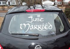 Just Married Vinyl decal, Just Married Vinyl Sticker, Wedding Decal