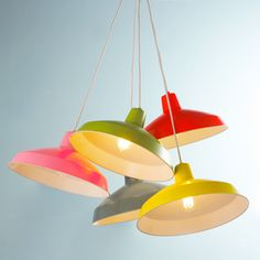 Colorful Farmhouse Pendants