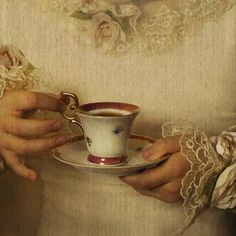 One must always hold their cup properly... (detail) title and artist unknown.