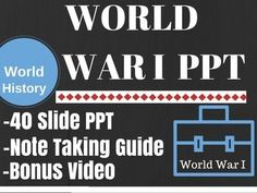 WWI World War I Causes Year /Year overview PPT ONLY World History US HistoryThis WWI PPT is something I have been working on for 10 years. It is not perfect but does a great job of over viewing the causes and the significant events of WWI. (The slide with Wilson's 14 points is a joke for the students in case you don't get it) 1.