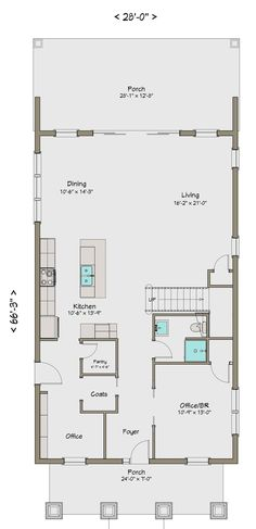 Plano de Planta Baja de Casa Grande de 5 Dormitorios en 248m2