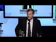 Christopher Nolan presents Wally Pfister with the Hollywood Cinematographer Award at the 2012 Hollywood Film Awards