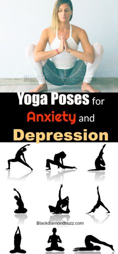 Best Beginners yoga poses for anxiety,panic attacks , stress and depression at home - Reduce stress and support your mental health.#yogaposs #anxientycure