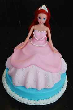 little mermaid princess cake ideas - Bing Images Little Mermaid Cakes, Little Mermaid Birthday, Little Mermaid Parties, Girl Birthday, Princess Birthday, Princess Party, Birthday Cakes, Birthday Ideas, Birthday Parties