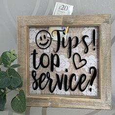 Tips Top Service? Restaurant Tips Box   Bar Tip Box   Tips Box   Box Tip