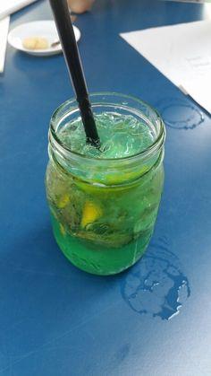 """Woodruff mint lemonade in """"Heimathafen Wiesbaden"""""""