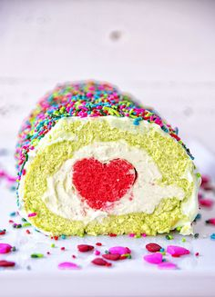 Holiday Recipes, Holiday Foods, Whipped Cream, Grinch, Roll Cakes, Cake Rolls, Vanilla Cake, Sprinkles, Cheesecake