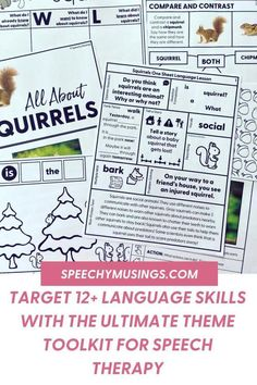 Looking for a fun and engaging way to engage your speech therapy students? Theme toolkits are the way to go! Add fun themes into your therapy lessons. In case you're having a hard time coming up with therapy ideas lately, I've got your back. I have 7 complete thematic units (plus more coming in the future) to target 12+ language skills! Receptive Language, Speech Language Pathology, Speech And Language, Speech Therapy Themes, Speech Therapy Activities, Language Lessons, Language Activities, Figurative Language Activity, Learning Goals