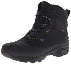 Zapatos de mujer.Merrell SNOWBOUND MID WTPF J55624 - Botas de nieve para mujer, color negro