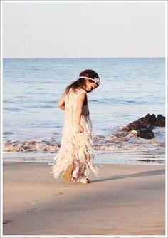 Beach Wedding Flowergirl <3