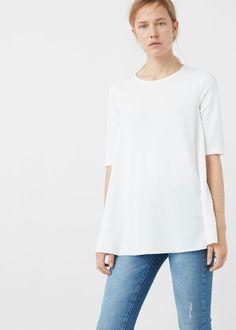 Camiseta fluida | MANGO
