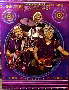 The Moody Blues Painting by Ray Stephenson - If you'd like this original artwork, please E-Mail RayboMusic@bellsouth.net today! ○○○ #MoodyBlues #Band #RockAndRoll #Art #Nashville #Tennessee #Artist #acrylic #music #RockMusic