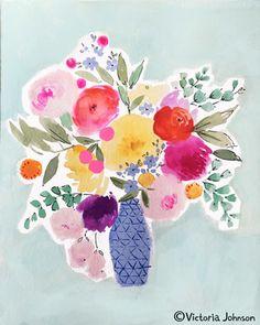 art, design, illustration, watercolour, floral, bouquet