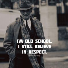 Im old school..