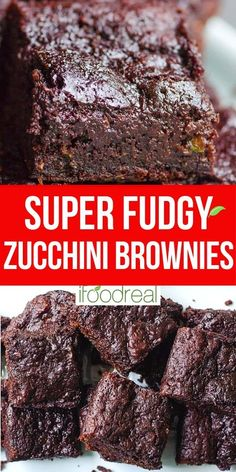 Healthy Deserts, Healthy Dessert Recipes, Healthy Treats, Healthy Baking, Eating Healthy, Healthy Zucchini Brownies, Healthy Cookies, Brownie Recipes, Brownie Toppings